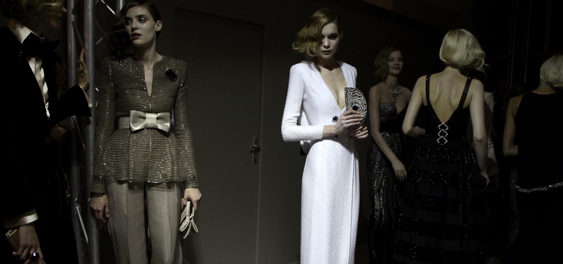 la moda en el backstage