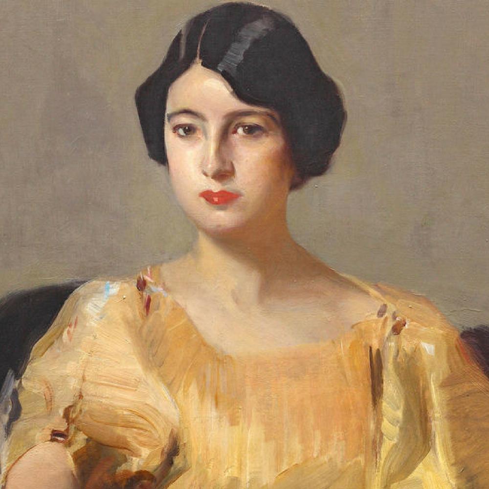 Elena con túnica amarilla: Oleo sobre lienzo de Joaquin Sorolla