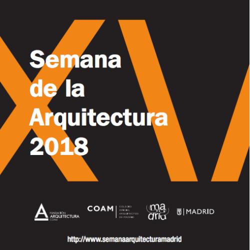 Cartel de la semana de la arquitectura en Madrid