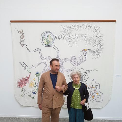 Francisca Atrigues y Miquel Barceló en Vivarium