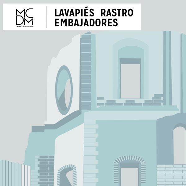 Logo zona Lavapiés Rastro Embajadores