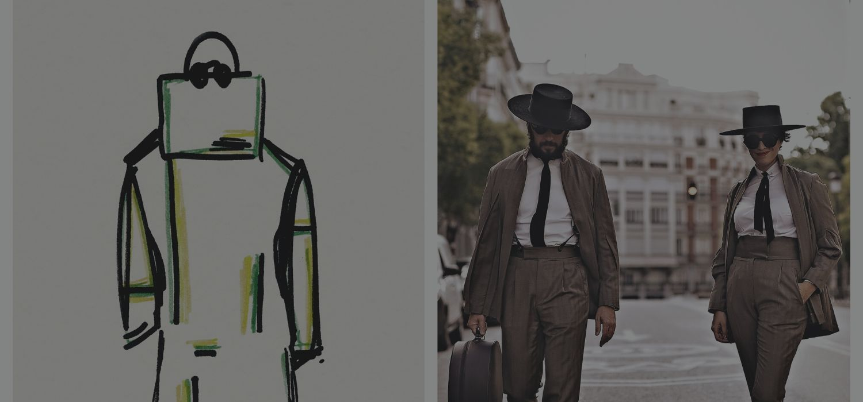 Madrid Capital De Moda & Oteyza arrive at the Paris Fashion Week
