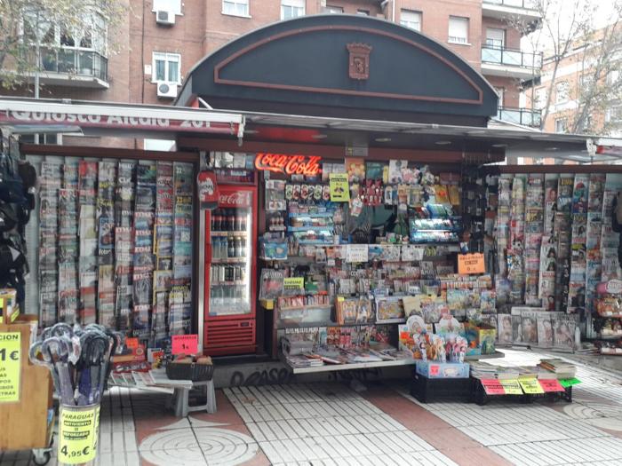 Quiosco de la calle Alcalá 261