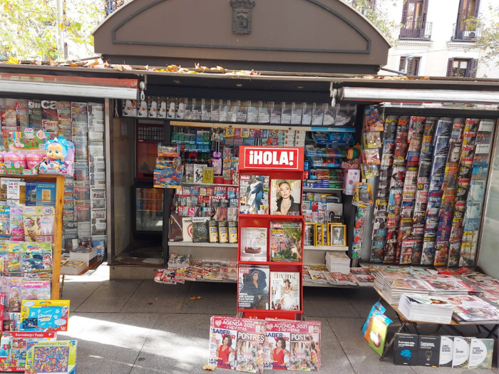 Quiosco de la calle Serrano 76