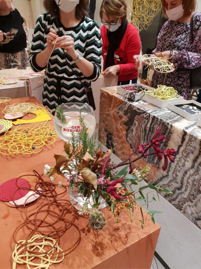Taller de centros de mesa florales
