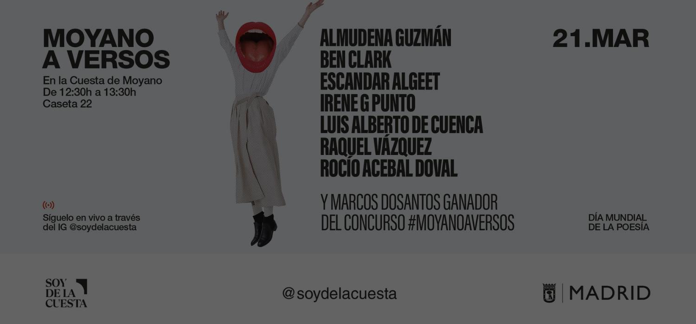'Moyano a Versos: La poesía más destacada llega a La Cuesta