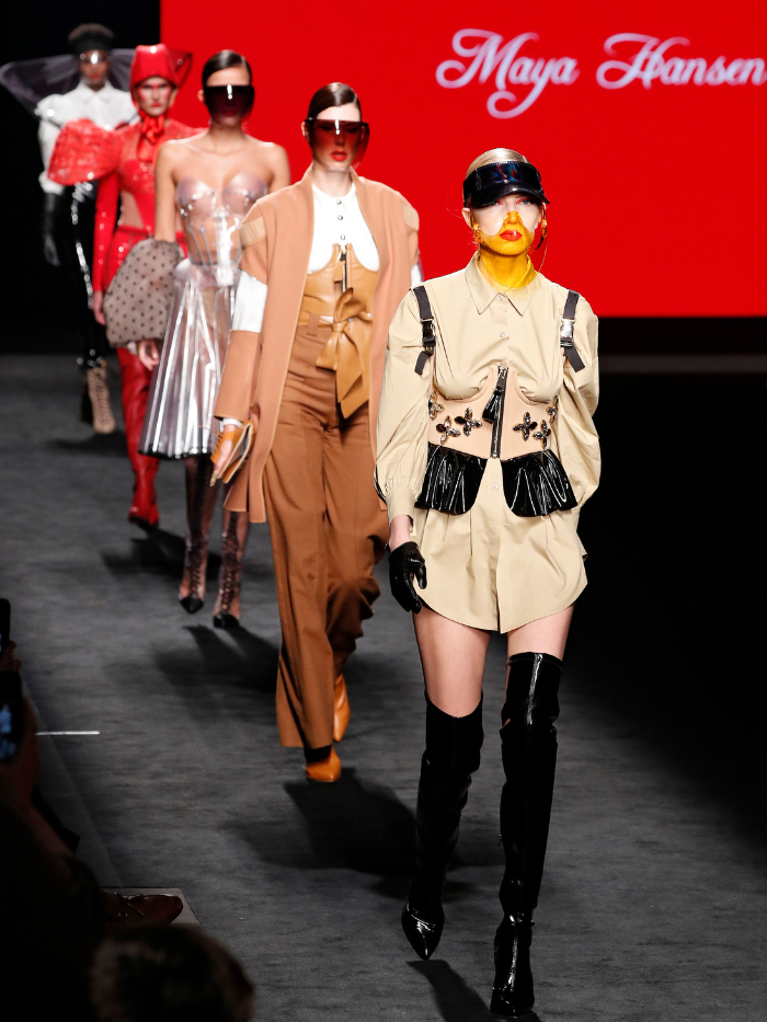 Modelos vestidas de Maya Hansen