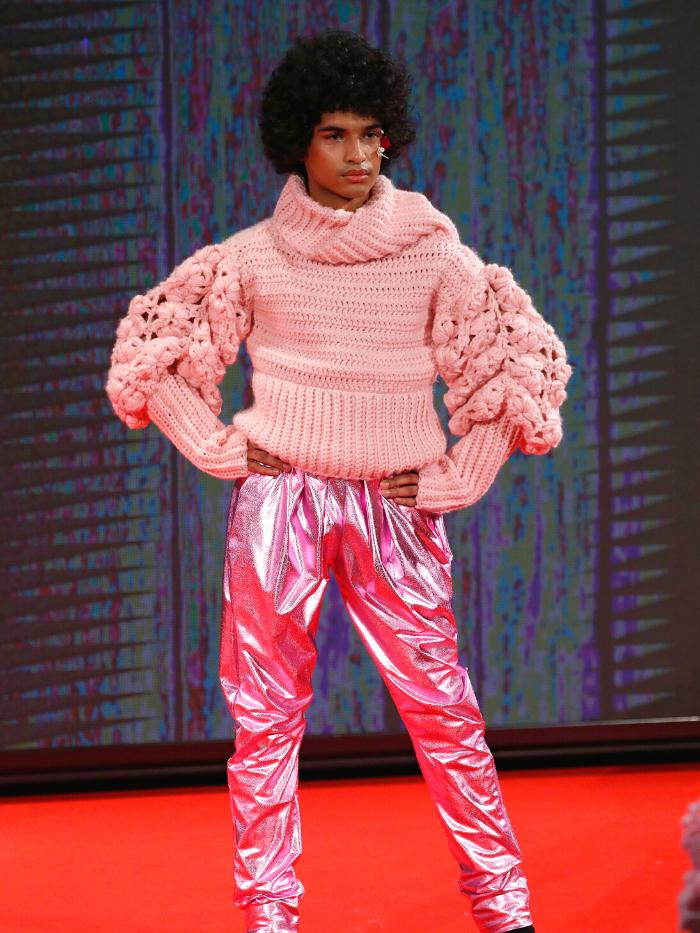 Modelo vestido de María Lafuente